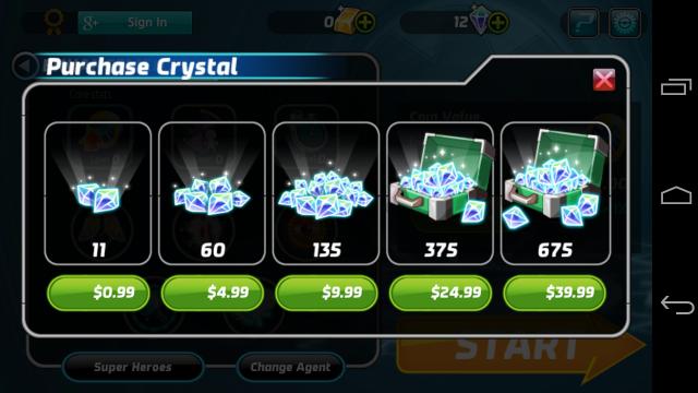 Marvel Run Jump Smash in-app purchases