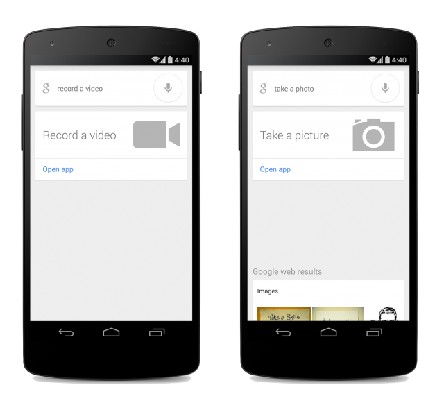 """Google Search adds """"take a picture"""" and """"record a video ..."""