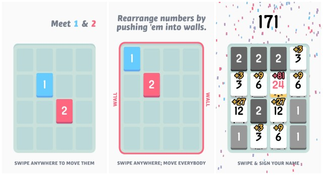 Threes exclamation gameplay
