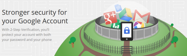 google 2step banner
