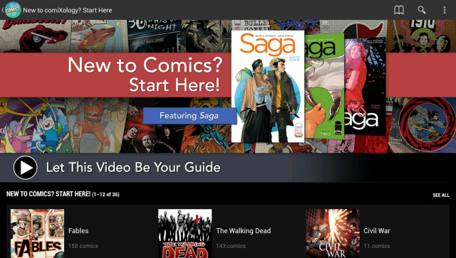 Comixology app Android