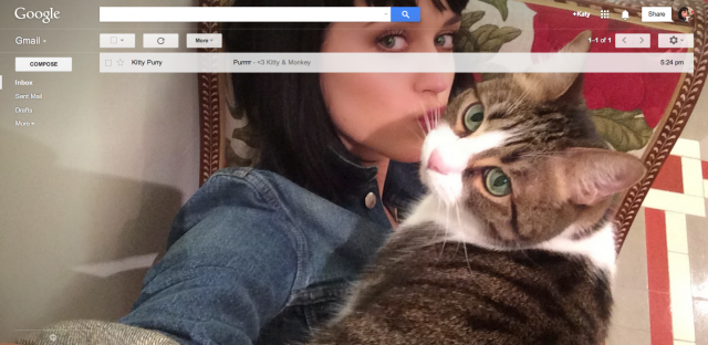 Gmail Shelfie April Fools