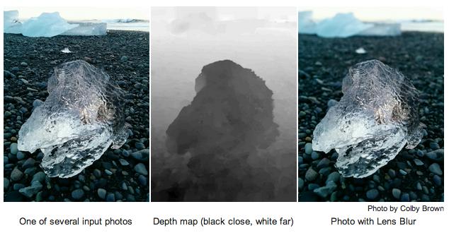 Google Camera Lens Blur 3D Mapping