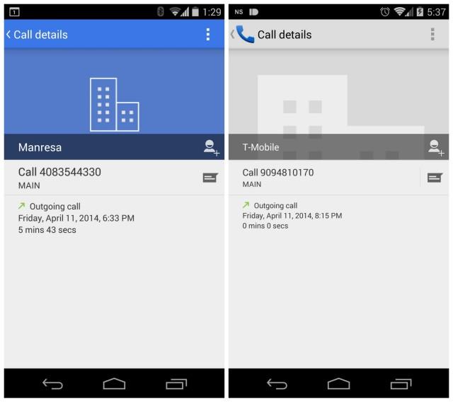 Google Dialer app blue Hera