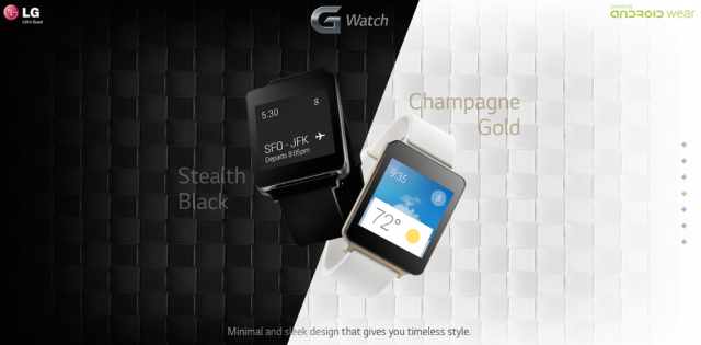 LG G Watch in 'Champagne Gold' pictured, will feature ...