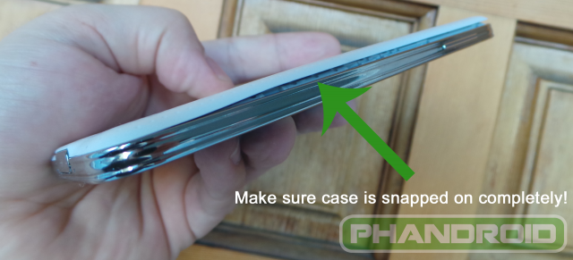 Close S5 Battery Case Completely