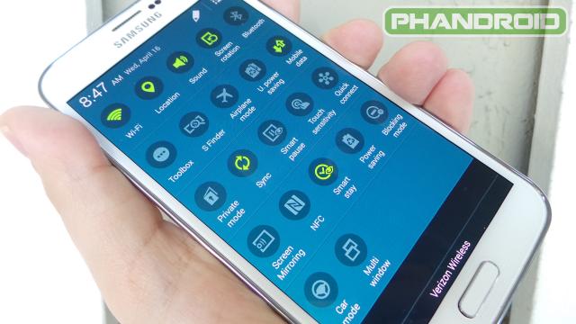 Galaxy S5 Quick Settings