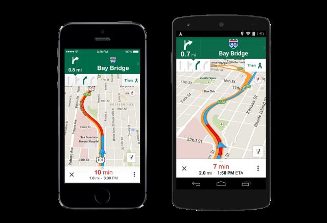 Google Maps 8.0 Navigation with Lane Guidance