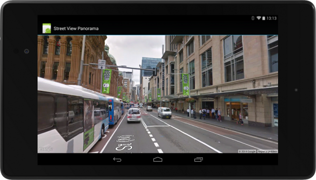 Google Maps Street View Nexus 7