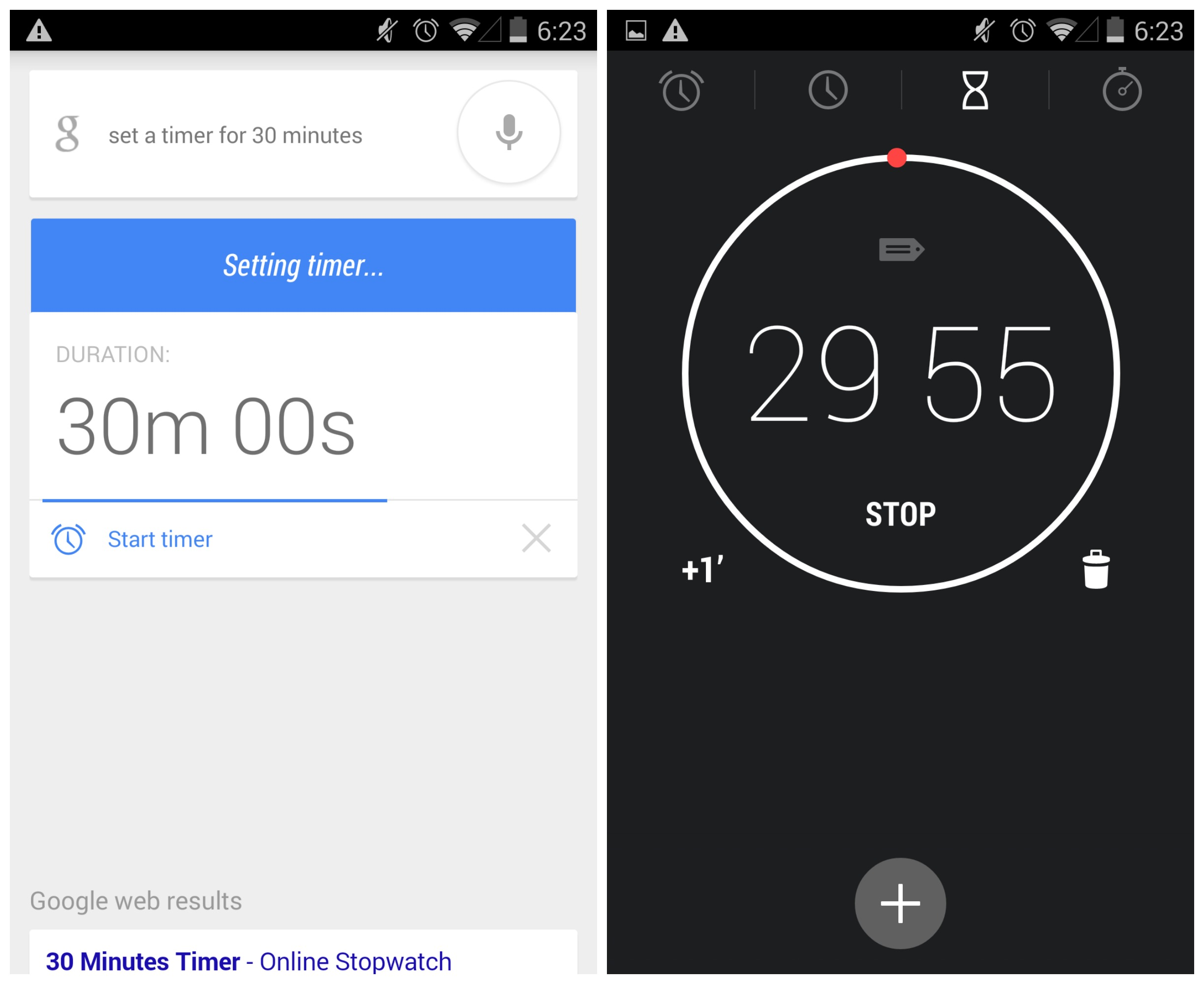 Google Search Now Sets A Timer With Voice Command Not An