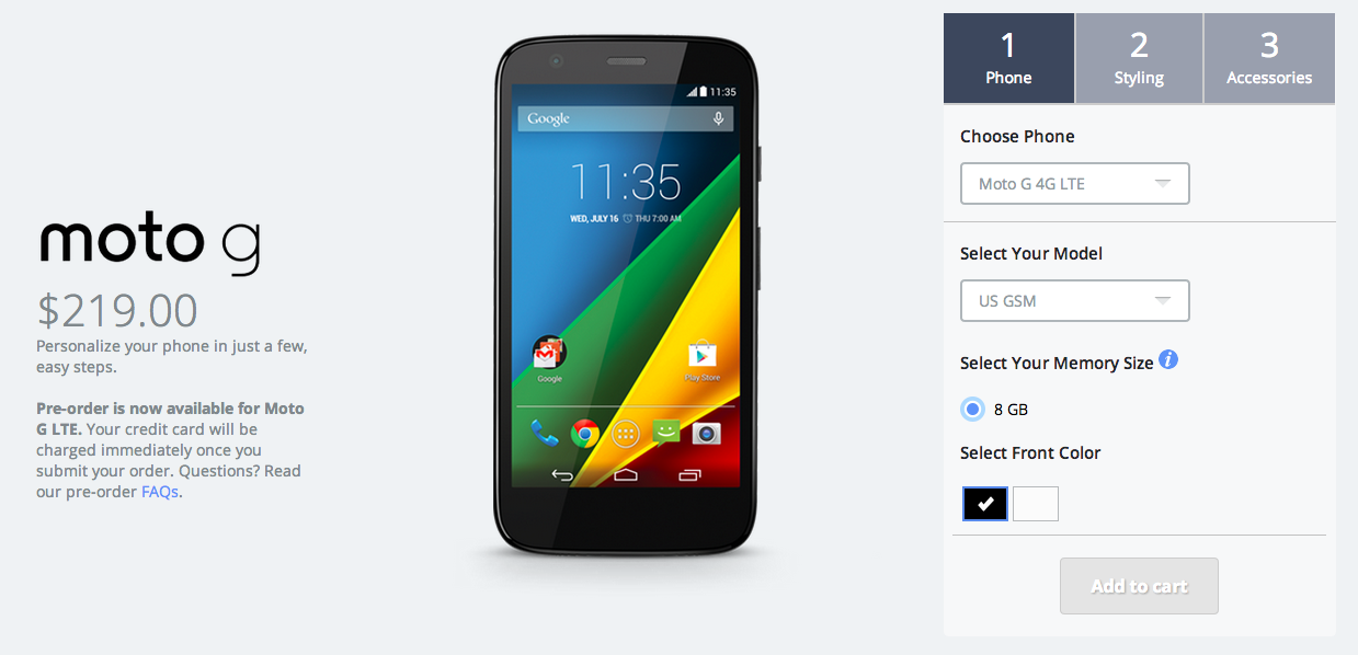 motorola moto g with 4g lte radios officially announced. Black Bedroom Furniture Sets. Home Design Ideas