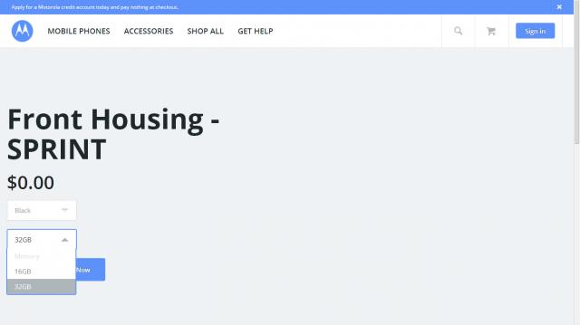 Sprint Moto X+1 FLEXR2 page