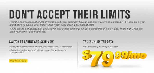Sprint Truly Unlimited Data