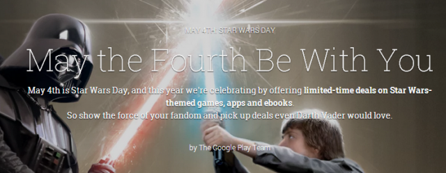 may the fourth be with you google play sales