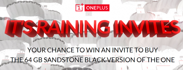 oneplus one invite raffle banner