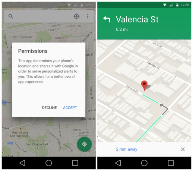 Android L Materia Google Maps