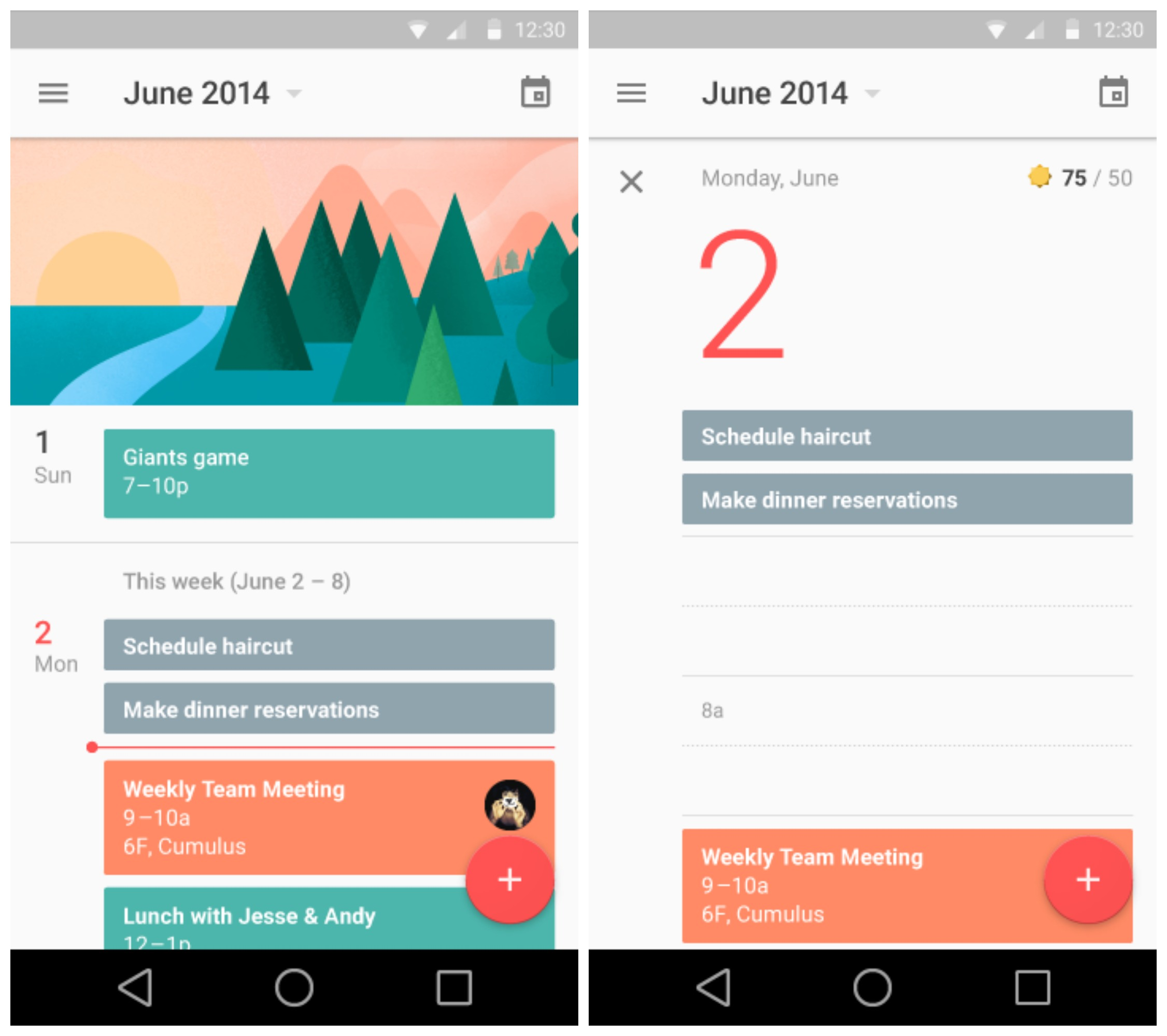 Calendar Design Material : Sneak peek at android l s redesigned settings gmail