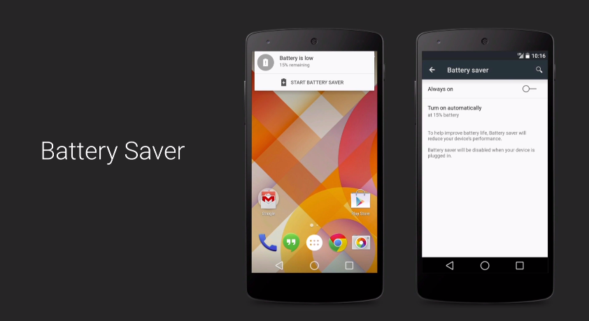 Android L battery saver