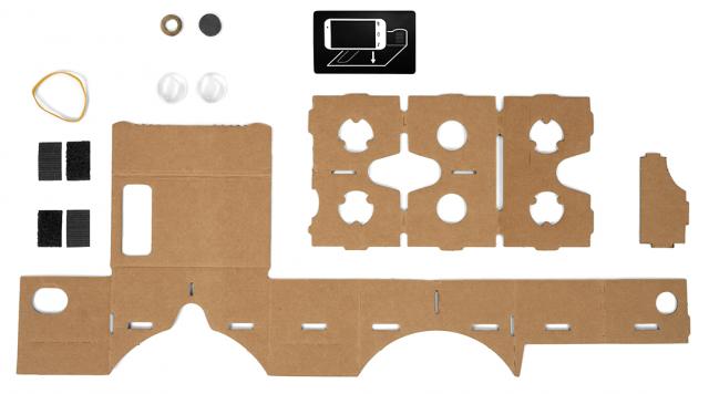 Google Cardboard ingredients