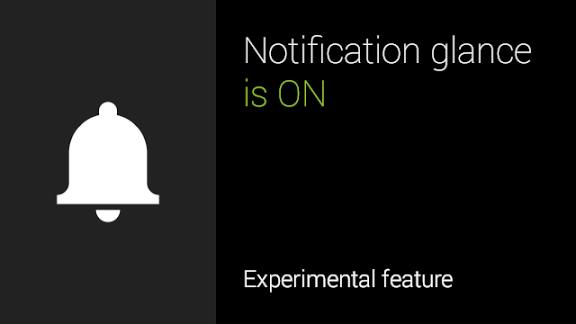 Google Glass Notification Glance update