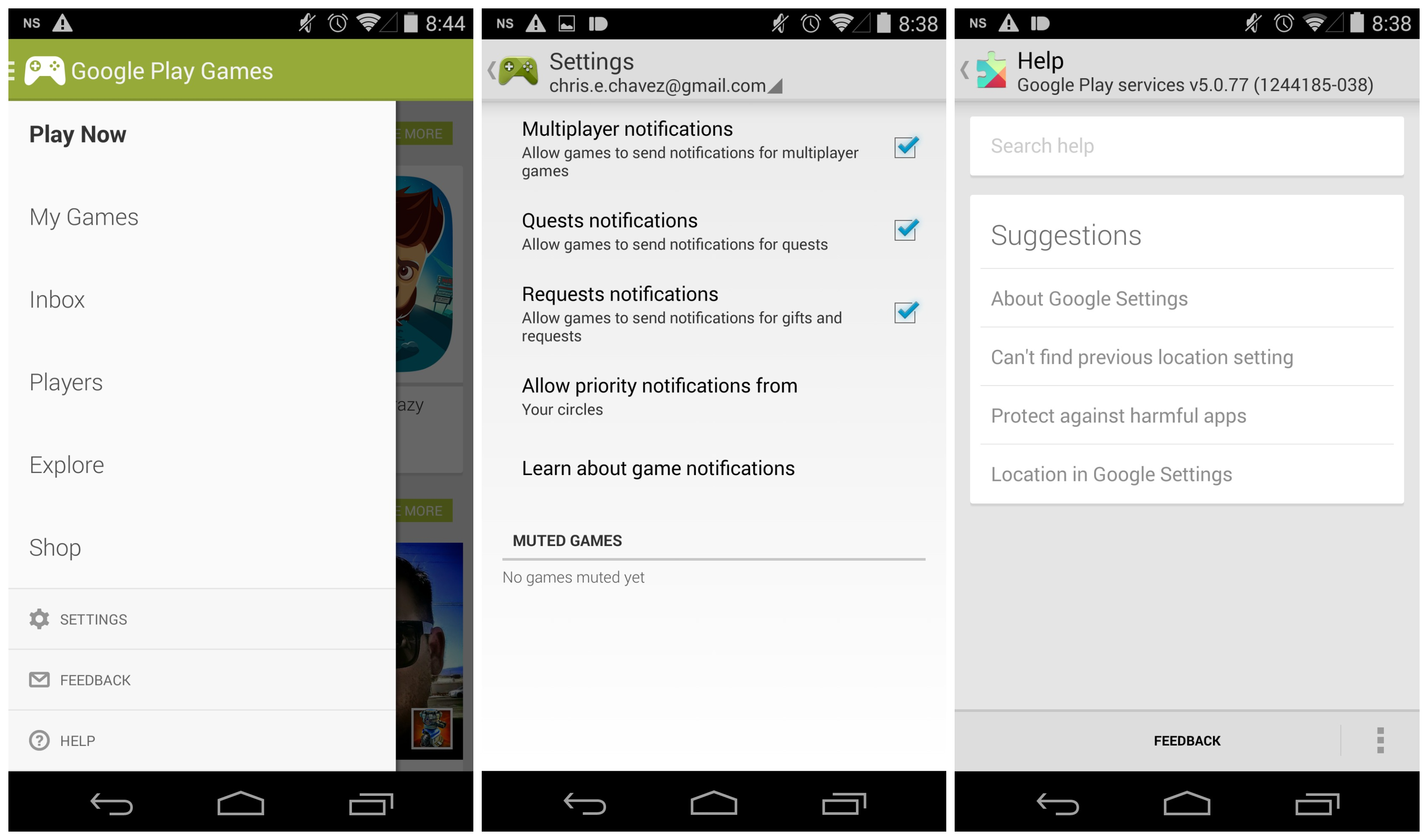 how to delete google account on android 5.0
