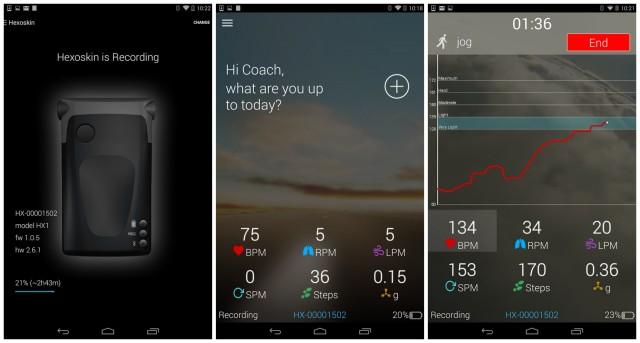 Hexoskin app for Android