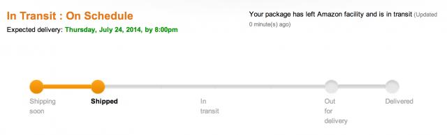 Amazon Fire Phone shipping schedule