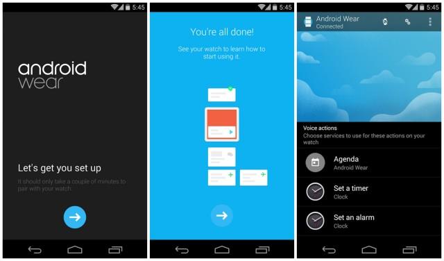 Android Wear companion app