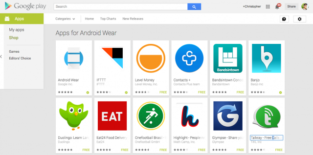 Apps for Android Wear Google Play
