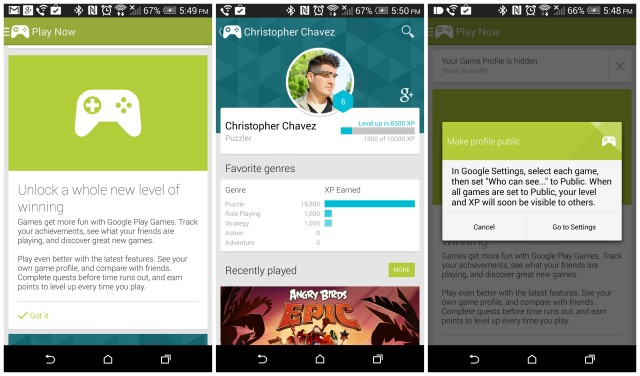 Google Play Games 2.0 update
