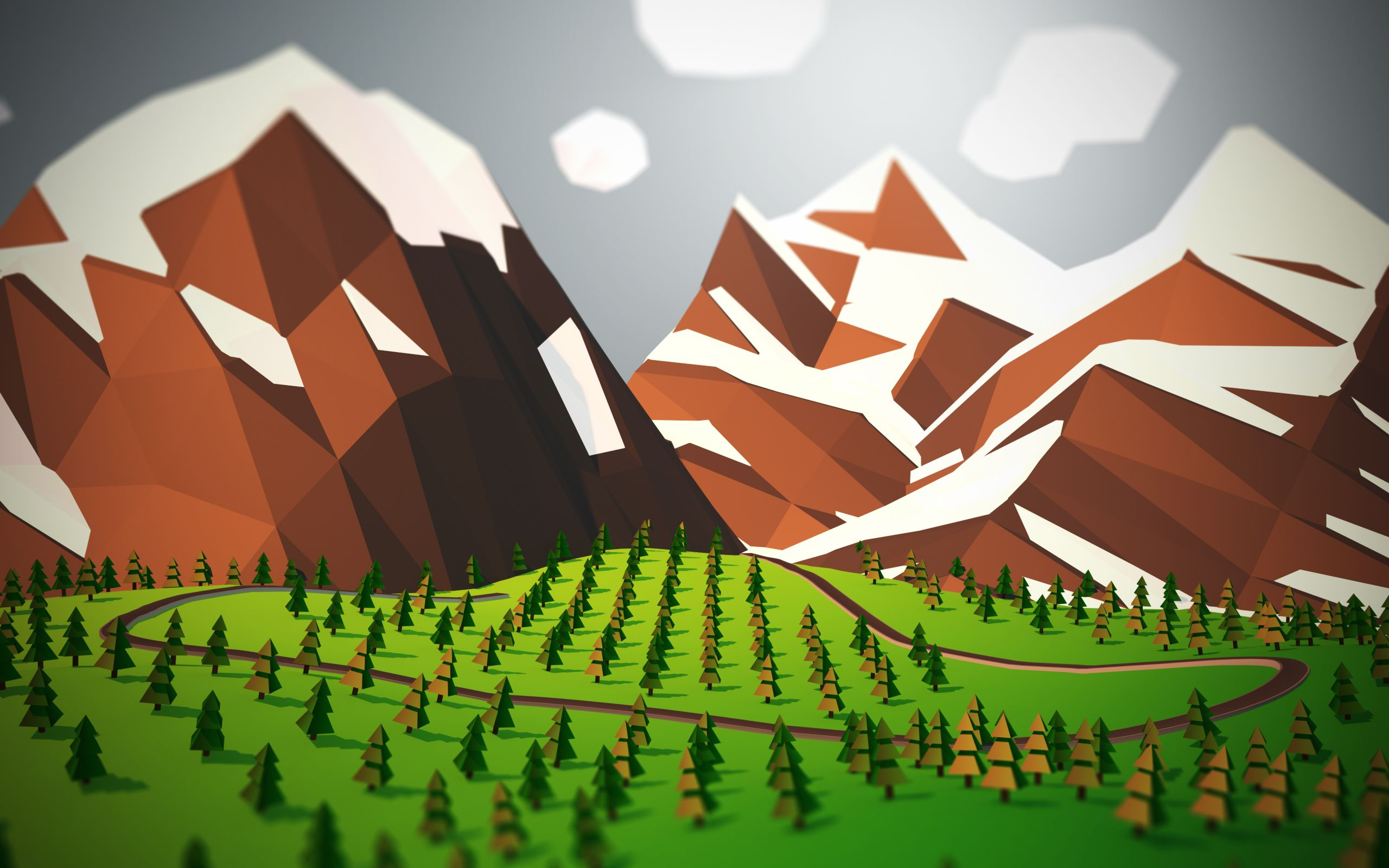 Android wallpaper low poly art for Sfondi material design