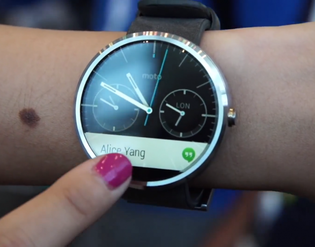 The Moto 360 will be the first Android Wear smartwatch to ...