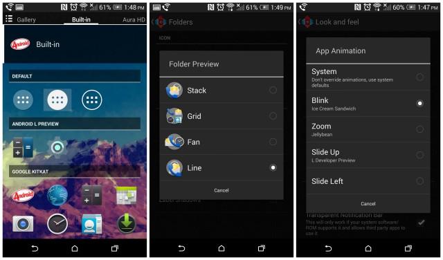 Nova Launcher Update screenshots