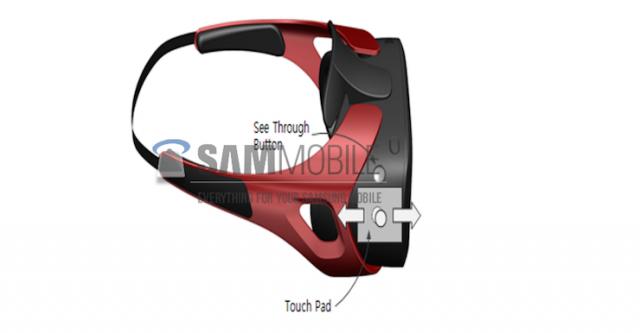 Samsung Gear VR headset render