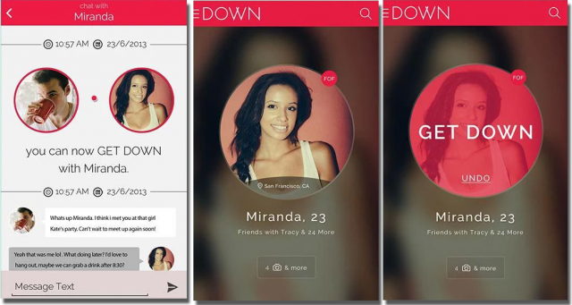 You get Down Dating, the since-refined brand of an app that launched  initially as Bang with ...
