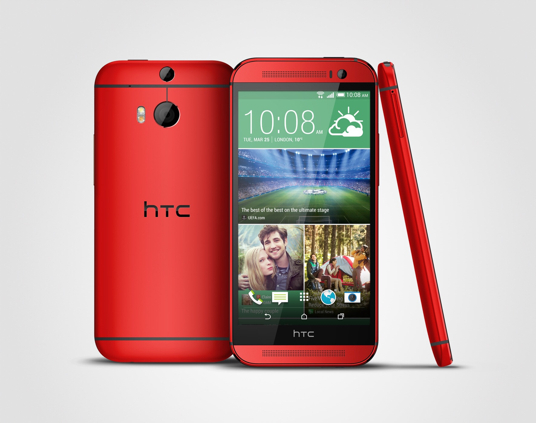 HTC One M8 announced in pink and red for Europe