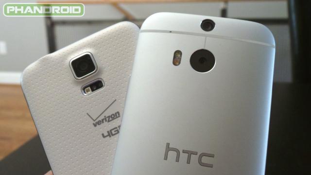 samsung galaxy s5 vs htc one m8 camera
