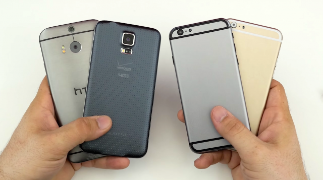 Apple iPhone 6 vs HTC One M8 vs Samsung Galaxy S5 Alpha