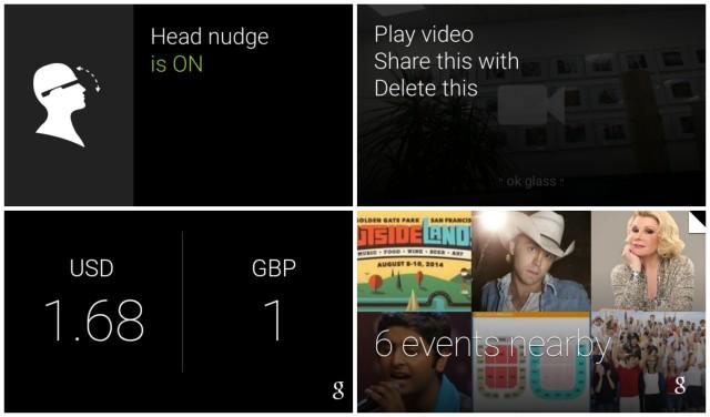Google Glass XE20.1 update screenshots