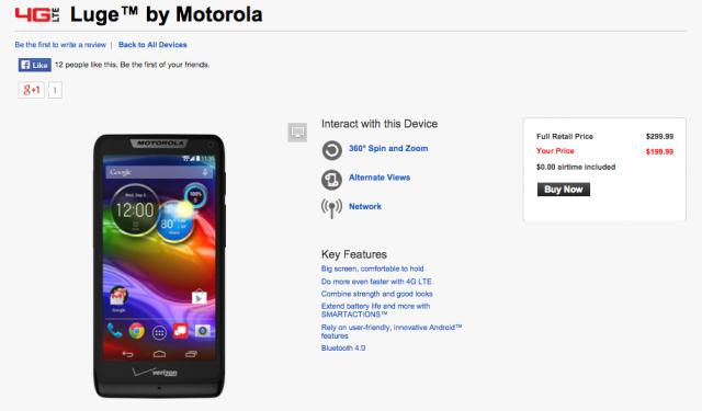 Motorola Luge Verizon