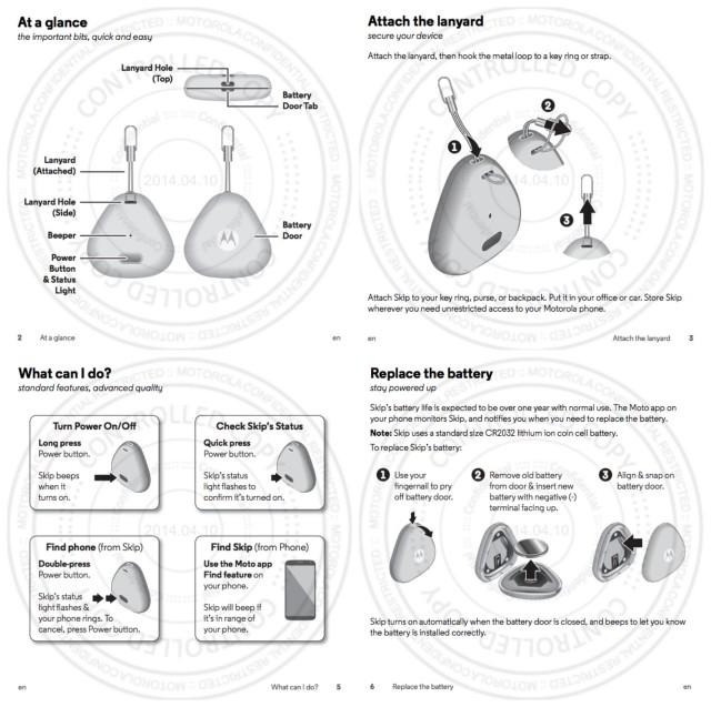 Motorola Moto Skip 2014 user manual