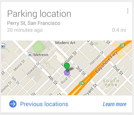 parked car google