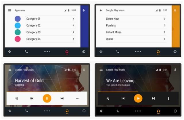 Android Auto screenshots