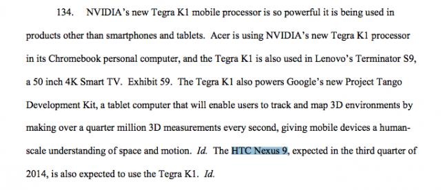 NVIDIA PDF Legal Doc HTC Nexus 9
