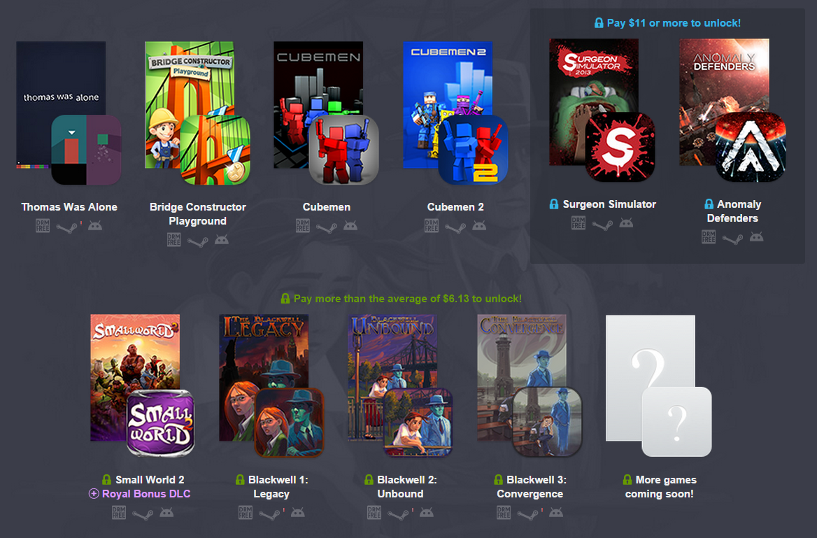 buying humble bundle amazon android