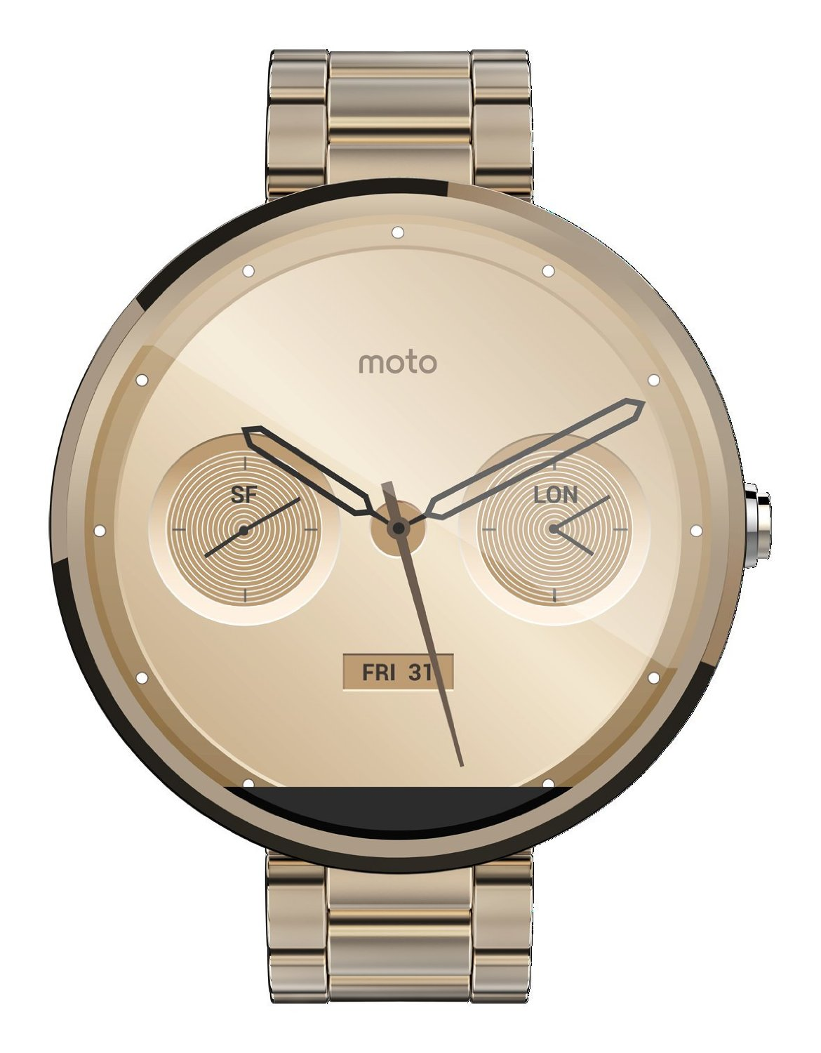 10 Gold Smoky Eye Tutorials For Fall: Champagne Gold Moto 360 Now On Amazon