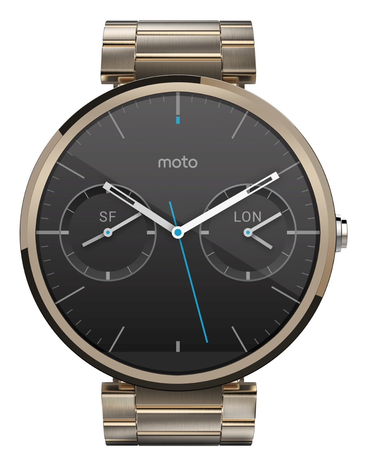 champagne gold moto 360 now on amazon. Black Bedroom Furniture Sets. Home Design Ideas