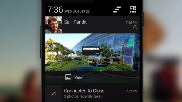 Google Glass Notification Sync
