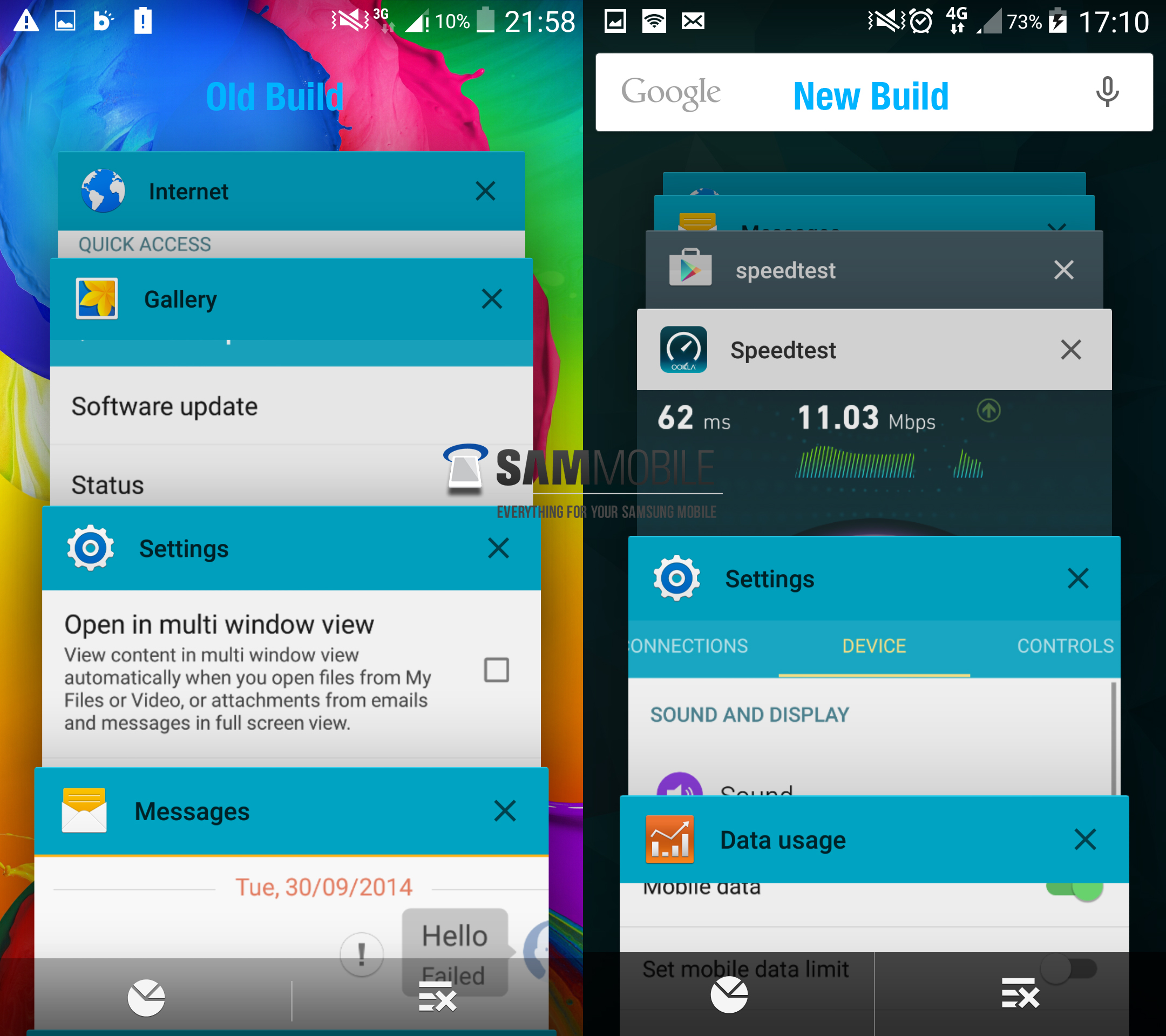 Watch this samsung galaxy s5 running leaked android 50 lollipop the newly leaked version of lollipopped touchwiz shows a similar touchwiz interface only with small design tweaks to the settings calculator biocorpaavc