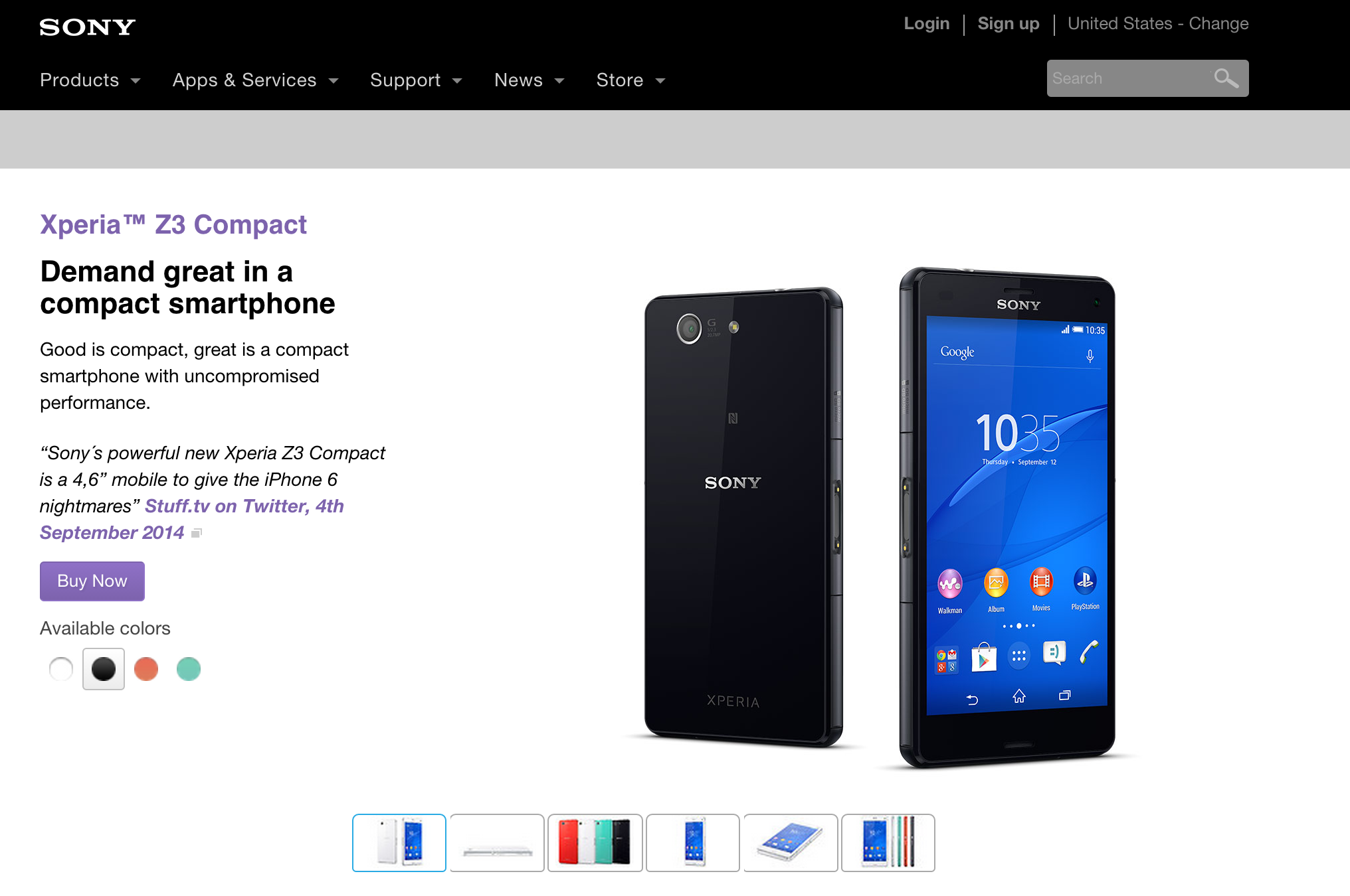 Sony Xperia Z3 Compact, The Information
